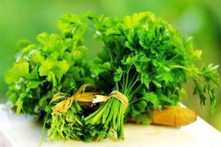 Tẩy sạch mụn thịt dư bằng rau mùi an toàn với da